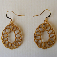 Ochre teardrop dangle earrings