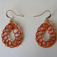 Terracotta teardrop dangle earrings