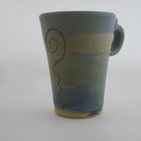 Tall Dulas Art Mug by Celf Dragon Heart Pottery