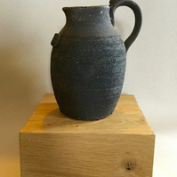 Black Clay Jug By Terrence J Bunce MA