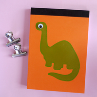 Notebook green dinosaur