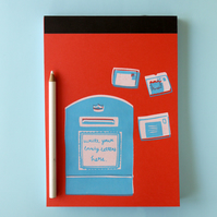 Notebook write your lovely letters here Red