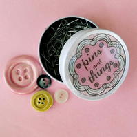 Pins & things tin