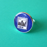 London polaroid blue ring