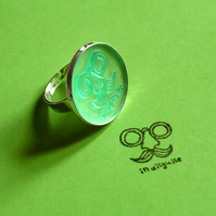 Rubber stamp ring in disguise