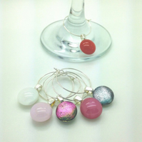 Wine glass charm set