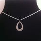 Sterling Silver Pear Shape Pendant Necklace