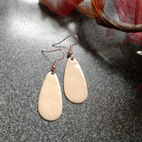 Nude Oval Drop Earrings