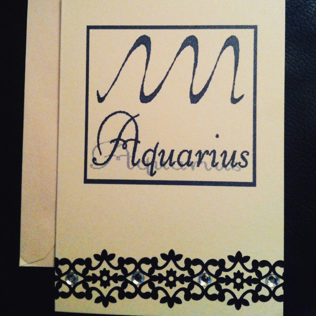 Aquarius Greetings Card