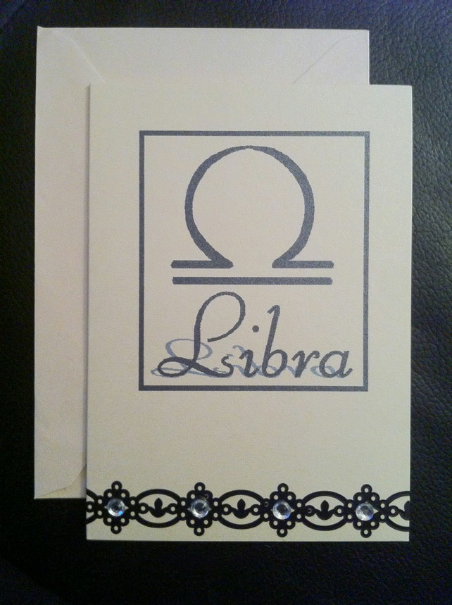 Libra Greetings Card