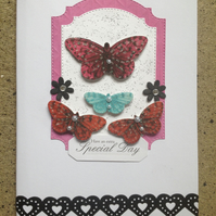 Butterfly 'Have a Special Day' Greetings Card