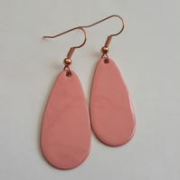 Pink Oval Drop Earrings