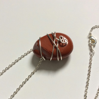 Red Jasper Wire Necklace