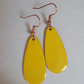 Yellow Oval Drop Earrings