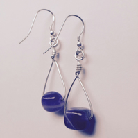 Amethyst Swing Earrings