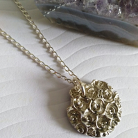 Fine Silver Rose necklace