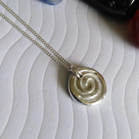 Fine Silver Spiral Necklace