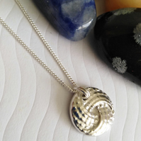 Fine Silver Abstract Swirl Necklace