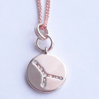 Cancer Charm Necklace - Rose Gold Plated