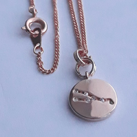 Taurus Charm Necklace - Rose Gold Plated