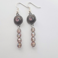 Crystal Bead Dangle Earrings