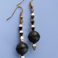Aztec Bead Earrings