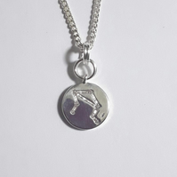 Libra Charm Necklace - Silver Plated