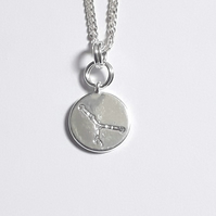 Cancer Charm Necklace - Silver Plated