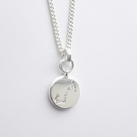 Scorpio Charm Necklace - Silver Plated