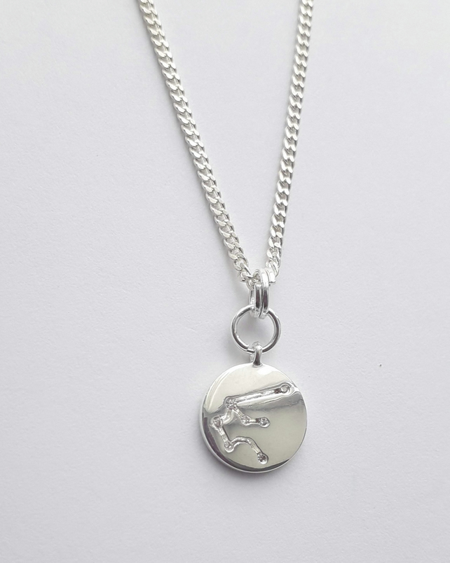 Aquarius Charm Necklace - Silver Plated