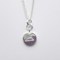 Leo Charm Necklace - Silver Plated