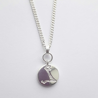 Pisces Charm Necklace - Silver Plated