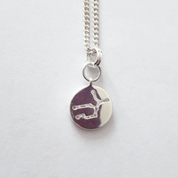 Virgo Charm Necklace - Silver Plated