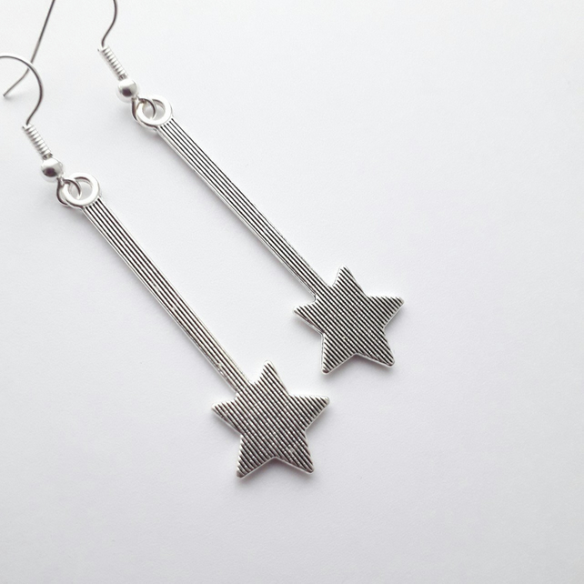 Star Drop Dangle Earrings