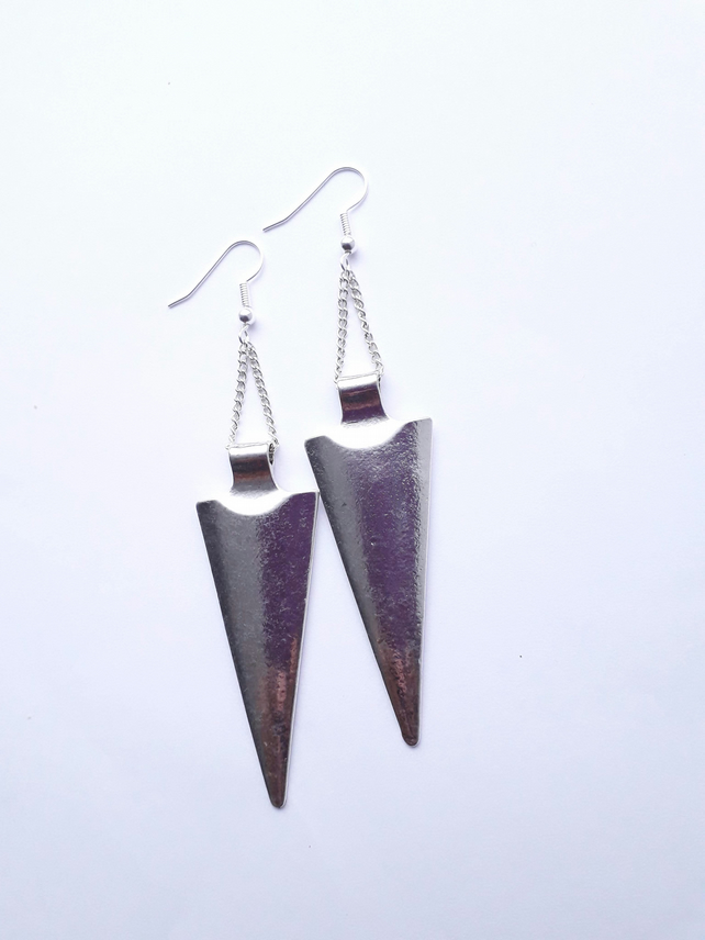 Long Reverse Triangle Earrings
