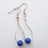 Blue Miracle Swing Bead Earrings