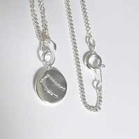 Gemini Charm Necklace - Silver Plated