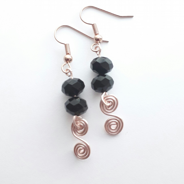 Double Bijoux Spiral Earrings