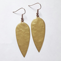 Gold Dagger Drop Earrings