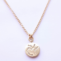 Sagittarius Charm Necklace - Gold Plated
