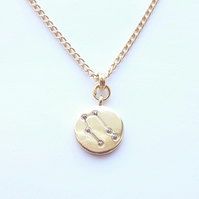 Gemini Charm Necklace - Gold Plated