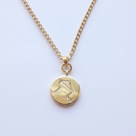 Libra Charm Necklace - Gold Plated