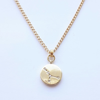 Cancer Charm Necklace - Gold Plated