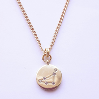 Capricorn Charm Necklace - Gold Plated