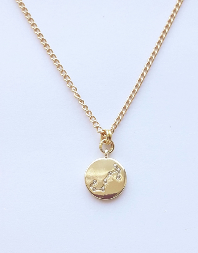 Scorpio Charm Necklace - Gold Plated