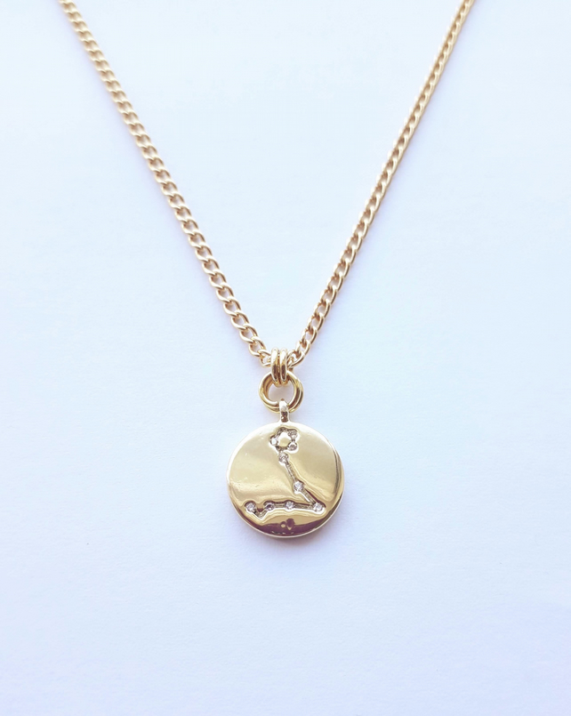 Pisces Charm Necklace - Gold Plated