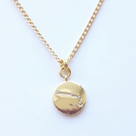Aries Charm Necklace - Gold Plated