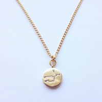 Virgo Charm Necklace - Gold Plated