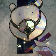 Stained Glass Polar Bear Ornament- Gift