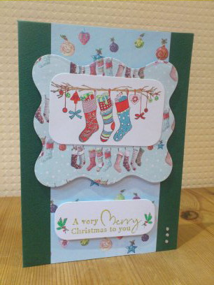 Christmas Stockings Card - Free Postage